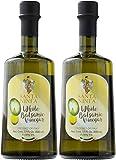 Santa Ninfa White Balsamic Vinegar, 17 Fl Oz Glass Bottle, (Pack of 2)