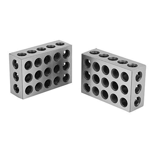 1-2-3 Spannblöcke, präzisionsgehärteter Stahl 23-Loch-Spannblock 0,0001