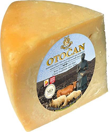 Pager Käse OTOČAN min 300g - halbharter Mischkäse aus Dalmatien mit Meersalz aus der Saline von Pag