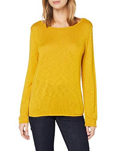 ESPRIT Damen 998EE1K811 Bluse, Gelb (Brass Yellow 720), L