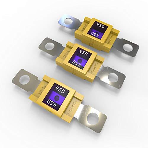 AUPROTEC Mega Hochstromsicherung Schraubsicherung 80A - 500A Auswahl: 450A Ampere gelb, 3 Stück