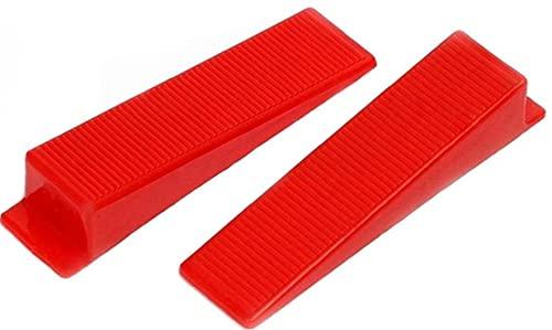 Baldosas monitores de Piso de baldosas de nivelación Sistema de cuñas Reutilizable cuñas Herramientas baldosas del nivelador para Floor roja de la Pared 300PCS Sets Herramientas Accesorios