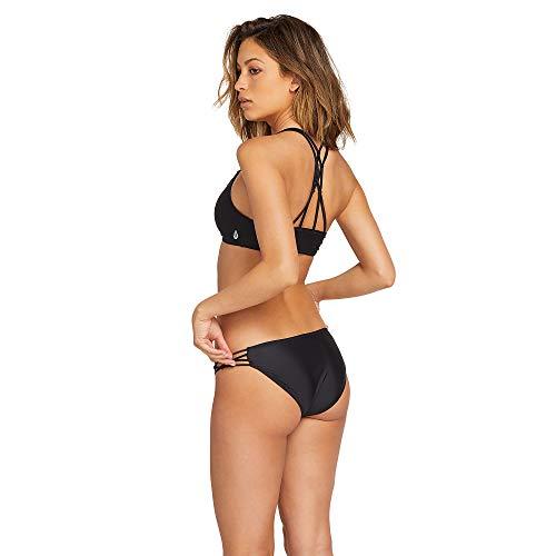 Volcom Damen Junior's Simply Solid V Neck Bikini Top Bikinioberteil, schwarz, 12W