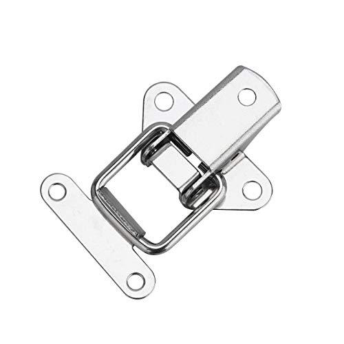 4/8 / 12 Stück Spannverschluss Edelstahl Haspe Kistenverschluss Silber Hebelverschluss für Case Box, Toolbox, Schublade, Schrank, Truhe