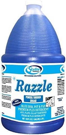 Professional Skyline Razzle Premium Blue Dish Soap Super Strong