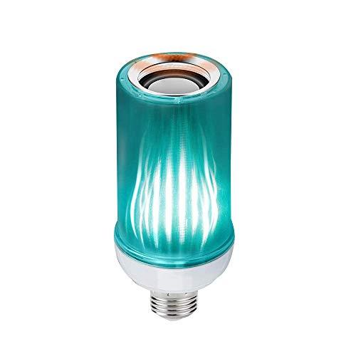 Phonleya Bombilla de luz musical - 8W E27 Soporte de luz Control de aplicación móvil Bluetooth/Control remoto Colorido Cambio de bombilla inteligente de música