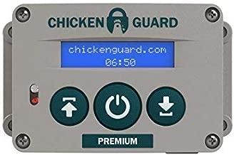 CHICKENGUARD 'Premium' Automatic Chicken Coop Pop Door Opener Lifts Up to 2 lbs, Timer/Light Sensor | Outdoor/Indoor Auto Door Opener, Chicken Coop Accessories