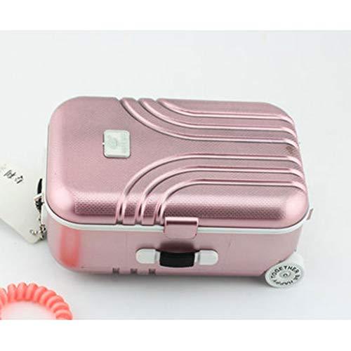 Cajas Musicales Caja de música Joyería de color rosa caja de música de la bailarina musical caja de equipaje de la carretilla de relojería cajas musicales for los regalos de cumpleaños for niños niñas
