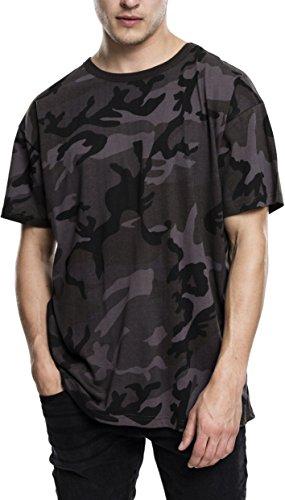 Urban Classics Herren Camo Oversized Tee T-Shirt, Mehrfarbig (Dark Camo 784), Large