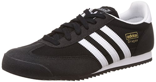 adidas Dragon J, Zapatillas de Deporte Unisex niños, Core Black FTWR White Core Black, 35 1/2 EU