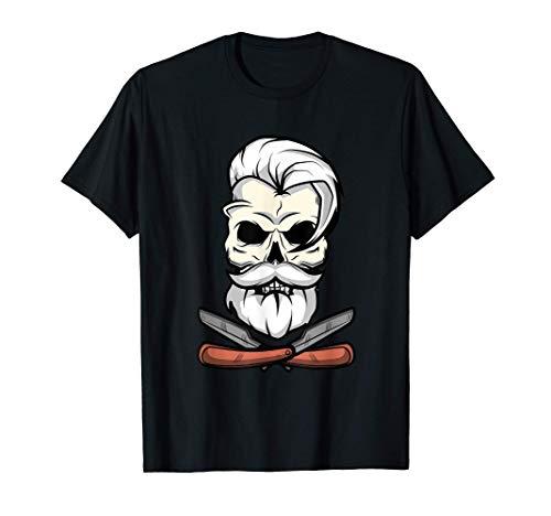 Regalos de ilustración de cráneos de barbero antiguos Camiseta