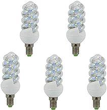 Tecnoluxeuro 5 stuks E14 9W LED spiraal lamp modern 4200K