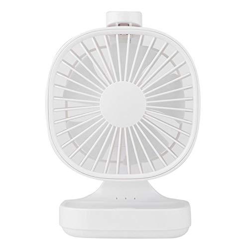Acouto Ventilador de Escritorio, Ventilador Eléctrico de Escritorio USB Recargable Mini Ventilador de Refrigeración Silencioso para el Dormitorio de la Oficina en Casa(Blanco)