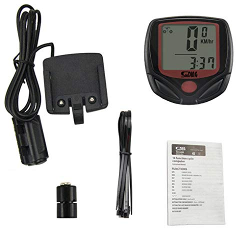 teng hong hui Bici de la computadora Digital LCD de Pantalla del Cycling Computer Equipo a Prueba de Agua Digital de MTB del odómetro del velocímetro