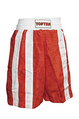 TopTen 1808-4170 Pantalones Cortos para Aficionados al fútbol, Rojo y Blanco, Medium Unisex Adulto