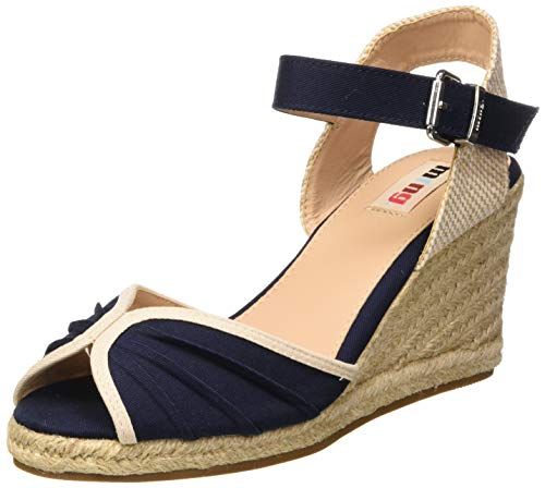 MTNG Collection 58936, Sandalias con Plataforma para Mujer, Azul (Canvas 3 Marino C42861), 37 EU
