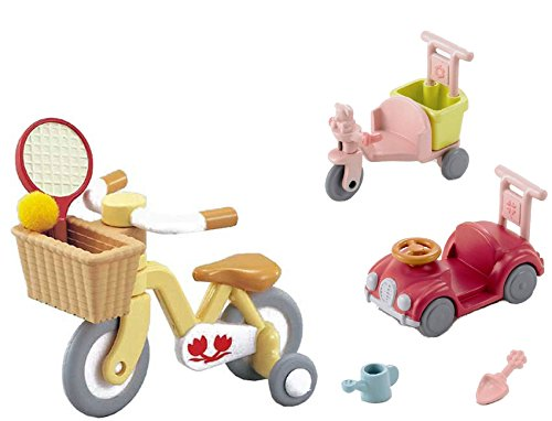 Best Japan Shopping - 2 Sets - Wheeled Vehicles - Bike with Training Wheels and Car with Tricycle Sets (Japan Import)