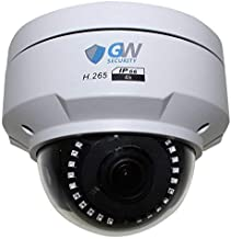 GW Security 8 Megapixel 4K (3840x2160 @30fps Real-time) 4X Optical Motorized Zoom Outdoor Indoor IK10 Vandalproof Sony Starvis Onvif H.265 8MP Dome PoE IP Camera, Audio&Alarm Port, 140FT Night Vision