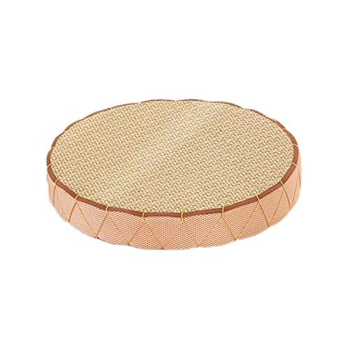 AIGTENG - Cuscino per sedia in paglia intrecciata, rotondo, traspirante, realizzato a mano, per sedia tatami, in maglia, per giardino, sala da pranzo, decorazione per la casa all'aperto