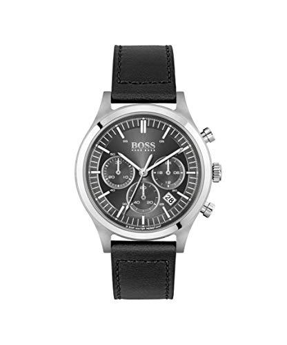 Hugo BOSS kwarts horloge met lederen armband 1513799