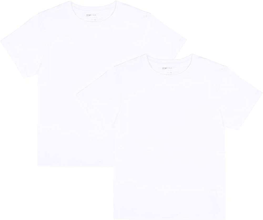 JIAHONG Unisex Kids Short Sleeves T Shirts Soft Crewneck Tee for Boys and Girls (3-12 Years)