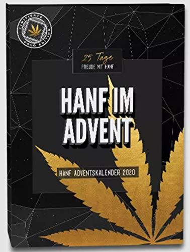 Hanf HanfMed Adventskalender 2020 Gold Edition, WERT 700 € - Advent Kalender für Mann und Frau, Weihnachtskalender mit 24 Hanf & CBD Produkte