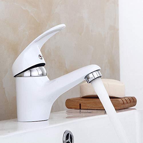 OUBAYLEW Wasserhahn Einhebelmischer Waschtisch & Wascbecken Bad Armatur Weiß