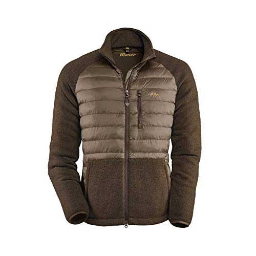 Blaser Hybrid Fleece Jacke Herren Oliv Jagdjacke Outdoor Freizeitjacke (XL)