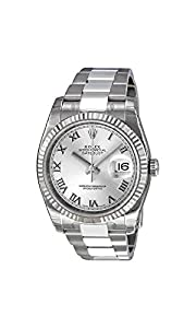 Rolex Perpetual Datejust Rhodium Dial Stainless Steel 18kt White Gold Mens Watch 116234RRO Check Prices and Reviews and review
