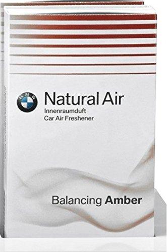 BMW genuino aire ambientador coche equilibrio ámbar Natural Kit de recarga (83122285676)
