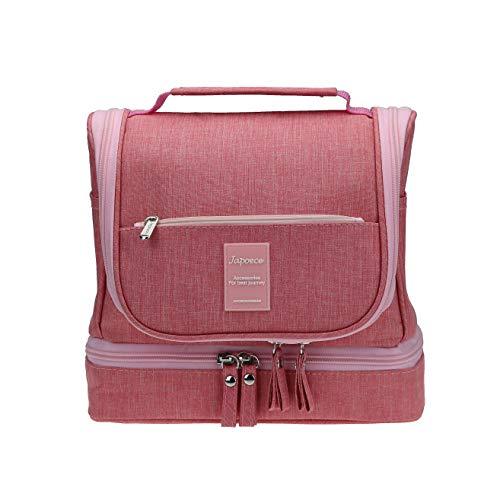 Japoece/Kulturbeutel/Wasserdicht Reise Kulturtasche groß zum für Damen Herren & Kinder/Aufhängen Männer und Frauen Waschtasche mit Mehreren Taschen/Kosmetiktasche Beauty Case Damen Flamingo(Rosa-2)