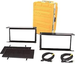 Kino Flo Diva-Lite LED 20 DMX 2-Light Kit (Univ 120U), Includes 2X Louver, 2X MTP-LBC 41 Lollipop with 16mm Baby Receiver Curve & Flight Case