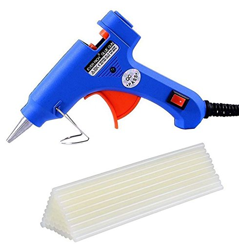 Amazon.co.uk - Ever Rich ® 20W Electric Glue Gun Hot Melt with Trigger with 50 Glue Sticks
