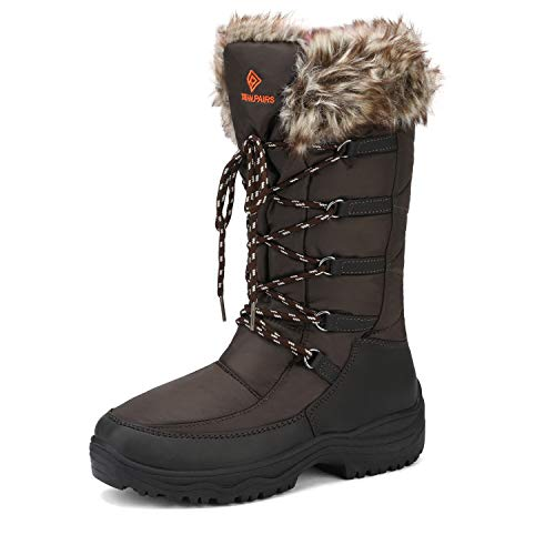 DREAM PAIRS Women's Maine Brown Knee High Winter Snow Boots Size 10 M US