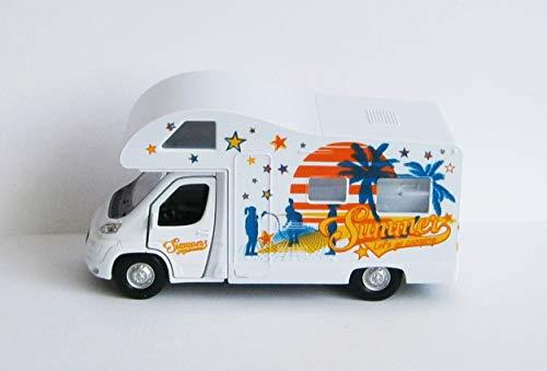 Anik-Shop Wohnwagen Welly Wohnmobil Rückzug 12cm Camping Modellauto Spielzeugauto Auto 78
