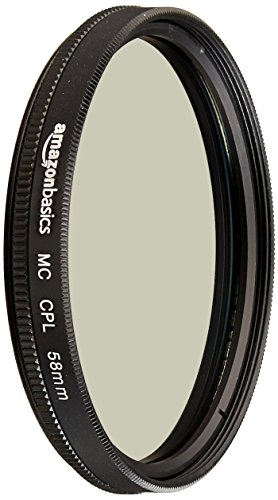 AmazonBasics Circular Polarizer Camera Photography Lens - 58 mm