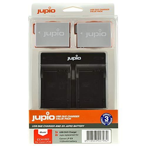 Jupio Kit Carregador + 2 Baterias LP-E8 (1120mAh)
