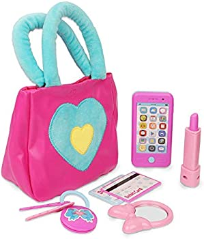 Playkidz Princess 7 Pieces Kids Play Purse and Accessories