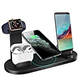LECHLY Wireless Charger 6 in 1 Induktive Ladestation Qi Kabelloses Ladegerät für iPhone...
