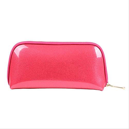 Voyage Sac de Rangement Trousse de Toilette Sac cosmétique Femelle PVC Shell cosmétique Sac 22 * 5 * 11 CM Rose