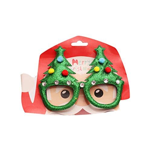 Amosfun – Gafas de Papel para Navidad, árbol de Navidad, Anclas, Gafas de Sol, día Festivo, Disfraz de Navidad, 5 Unidades