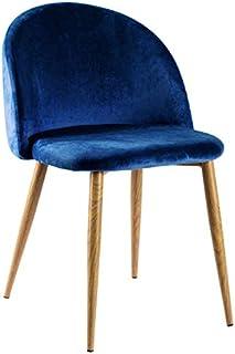 Regalos Miguel - Sillas Comedor - Silla Vint Terciopelo - Azul Marino - Envío Desde España