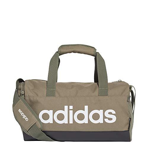 adidas Lin Duffle XS Tasche, Unisex, Erwachsene, Verleg/Schwarz/Weiß, Einheitsgröße