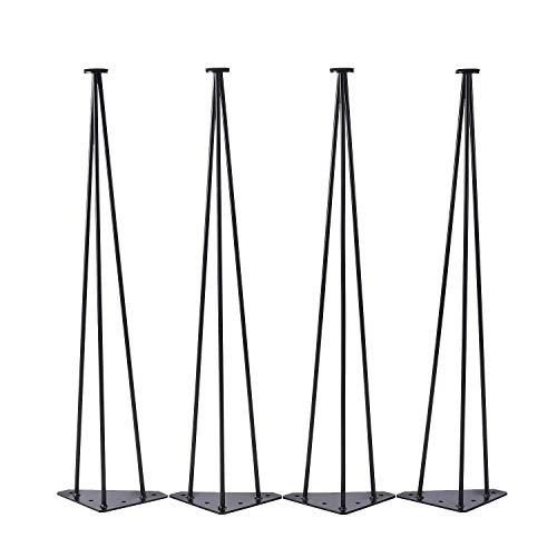 MYHO テーブル脚 足 28インチ スチールテーブル脚 アイアンレッグ 鉄脚 4本セット ダイニング脚 DIY素材