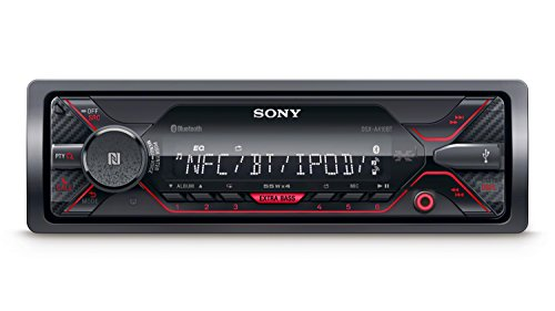 Sony DSX-A410BT Autoradio senza Lettore CD, Dual Bluetooth, NFC, Siri Eyes Free, AUX e USB, Controllo Diretto di iPhone e iPod, Android Music Playback, Potenza 4 x 55 W, File FLAC