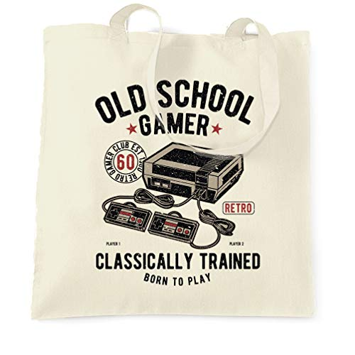 Old School Gamer Classically Trained NES Graphic Tote Shopping Bag