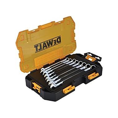 DEWALT DWMT73810 Tool Kit Metric Combination Wrench Set, 8 Piece