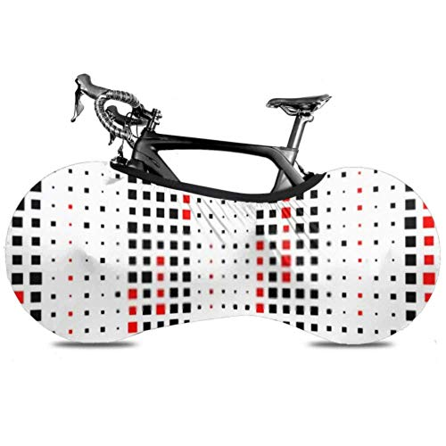 Housse de Roue de vélo Seamless Vertical Stripe Pattern Vector Black Anti-Dust Bike Indoor Storage Bag Inrayable, Lavable High Elastic Tire Packa