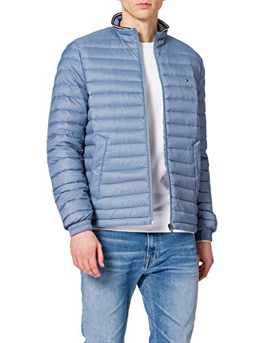 Tommy Hilfiger Packable Down Jacket Giacca, Colorado Indaco, XL Uomo
