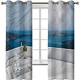 Cortina de ventana opaca, cortinas térmicas con aislamiento...